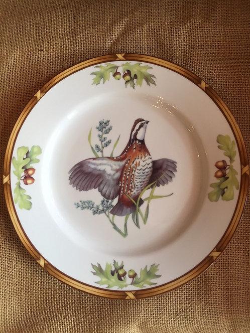 Game Birds Dinner Plate