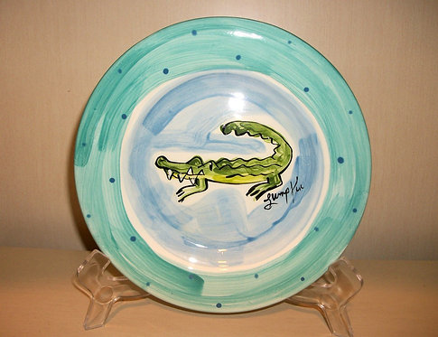 Alligator Round Salad Plate