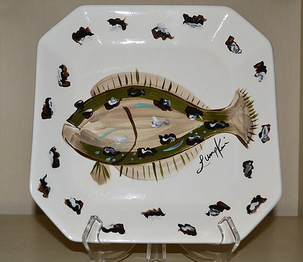 Flat Fish Octogonal Platter