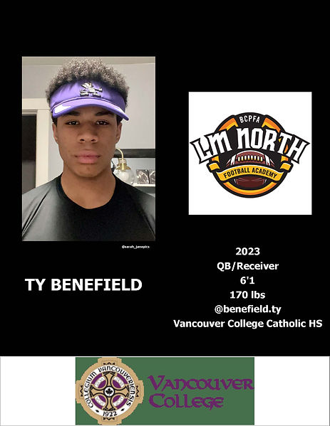 Ty Benefield Hudl