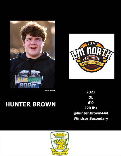 Hunter Brown Hudl