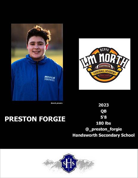 Preston Forgie Hudl