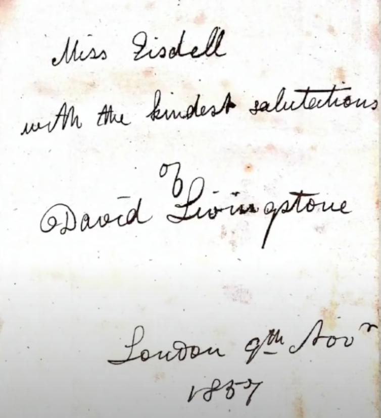 David Livingstone Signed Book