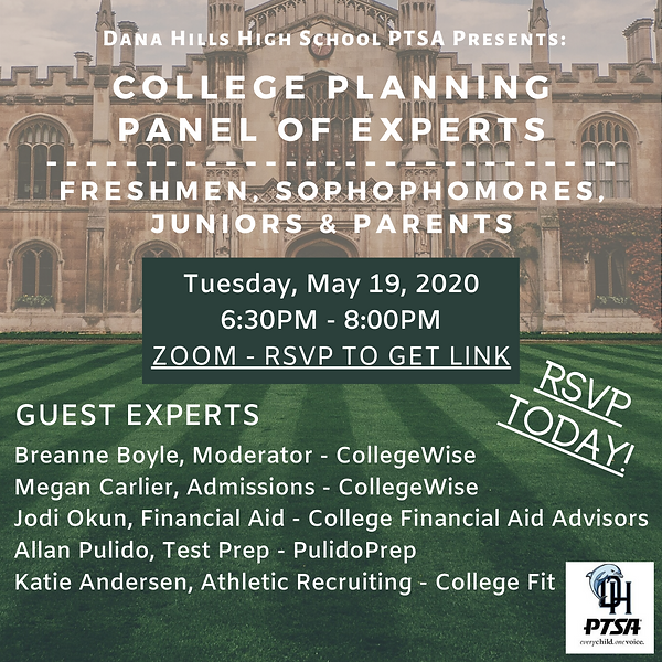 College Planning Experts Panel May 2020.