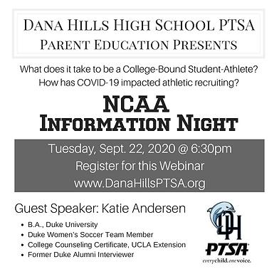 NCAA Information Night DHHS Social Media