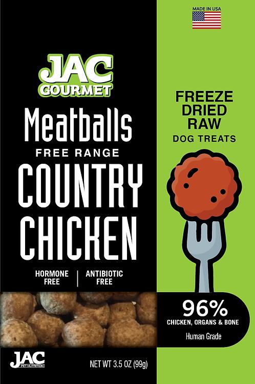 Free Range Country Chicken Meatball Treat 5oz.