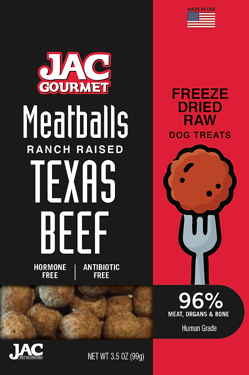 Ranch Raised Texas Beef Meatball Treat 5oz