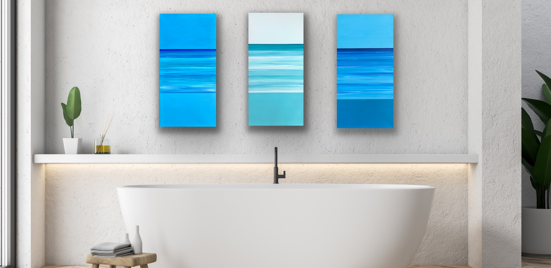 Contentment, Serenity, Bliss Triptych