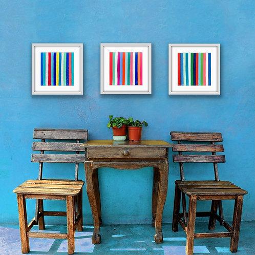 Joy Wall Print Triptych (multicolored)