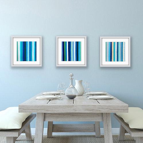 Joy Wall Print Triptych (Blues)