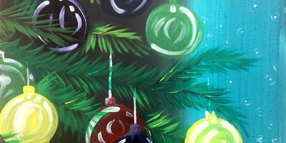 Holiday Paint N Sip at Case N Bucks
