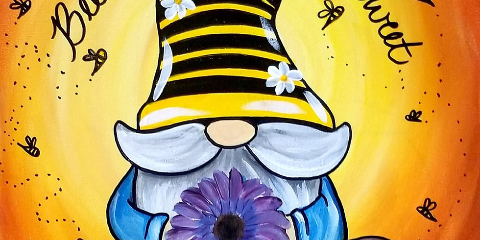 Bee Sweet Gnome Painting at Parrots