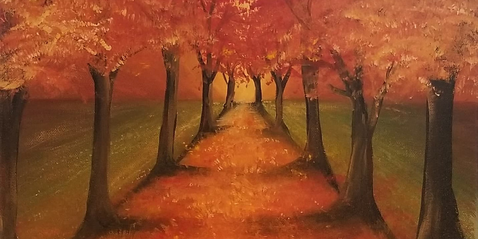 Fall Paint and Sip at Restoration Alley