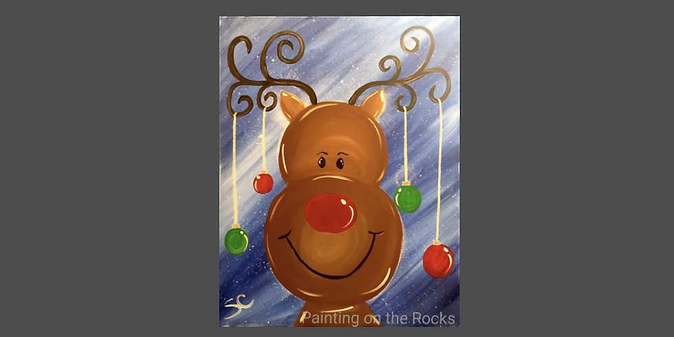 Rudolph Paint and Sip at Parrot's