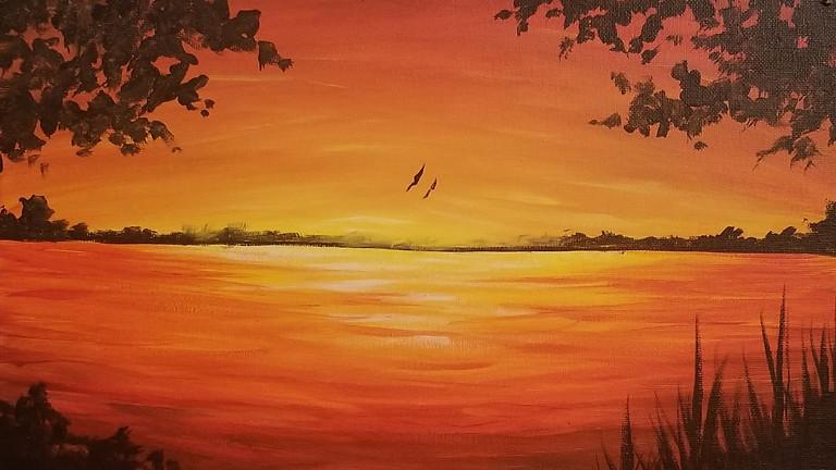 """""""Sunset"""" Paint Night at Case & Bucks"""