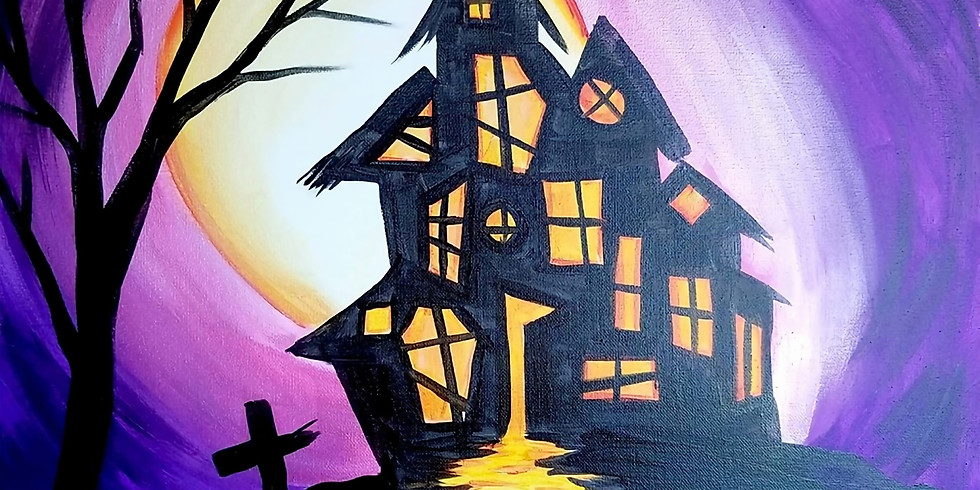 Halloween Paint and Sip at Case N Bucks