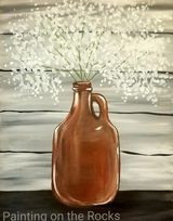 Growler with Baby's Breath