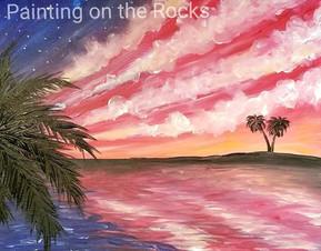 Patriotic Beach Sunset