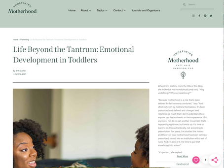 FEATURE: Life Beyond the Tantrum: Emotional Development in Toddlers