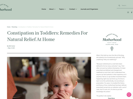 FEATURE: Constipation in Toddlers: Remedies For Natural Relief At Home
