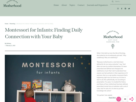 FEATURE: Montessori for Infants: Finding Daily Connection with Your Baby