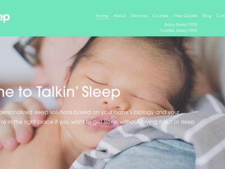 COPYWRITER: Talkin' Sleep Baby Sleep Course