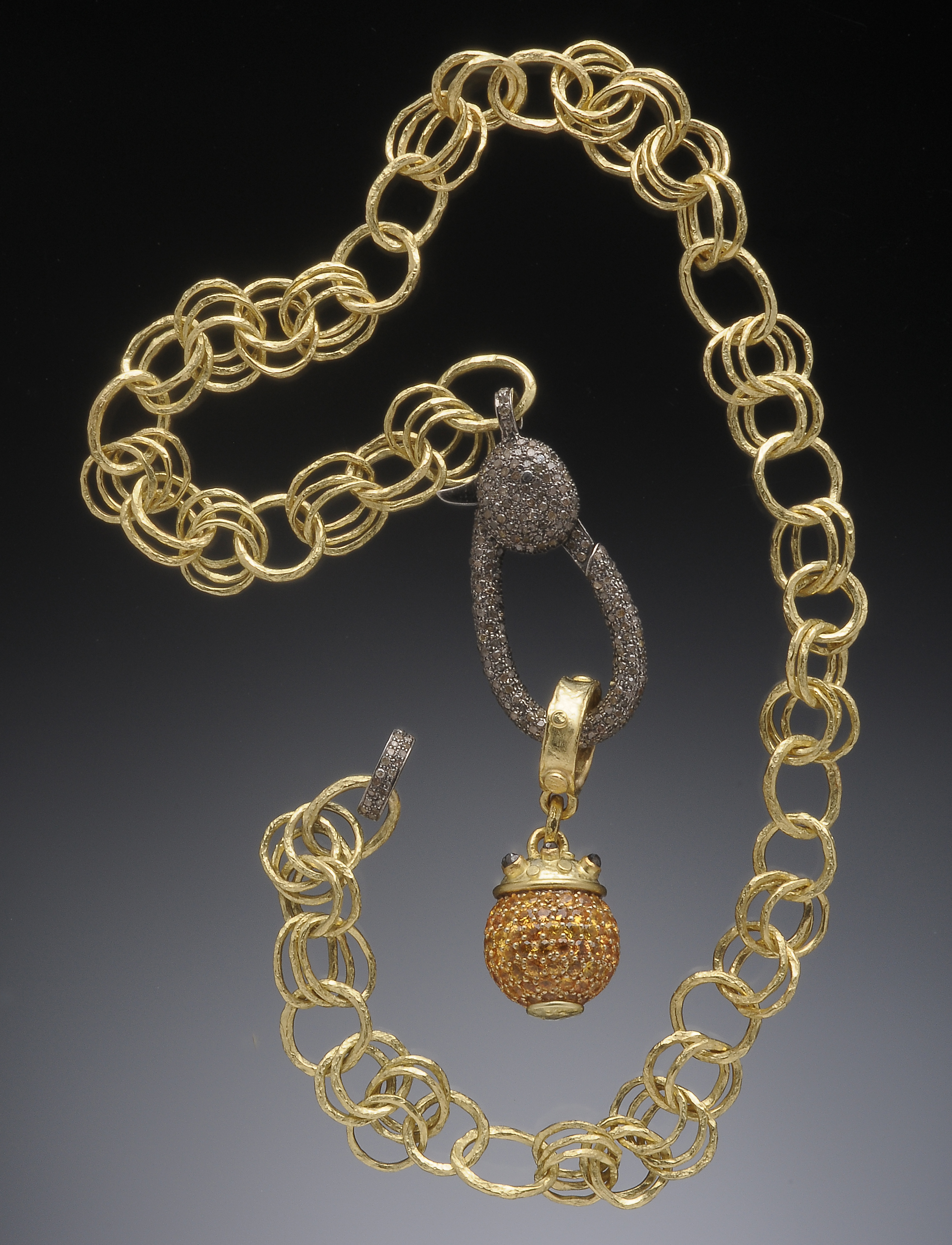 18K Chain w/Yellow Sapphire Necklace