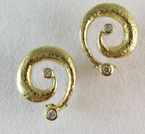 """Textured Spiral Earrings"""