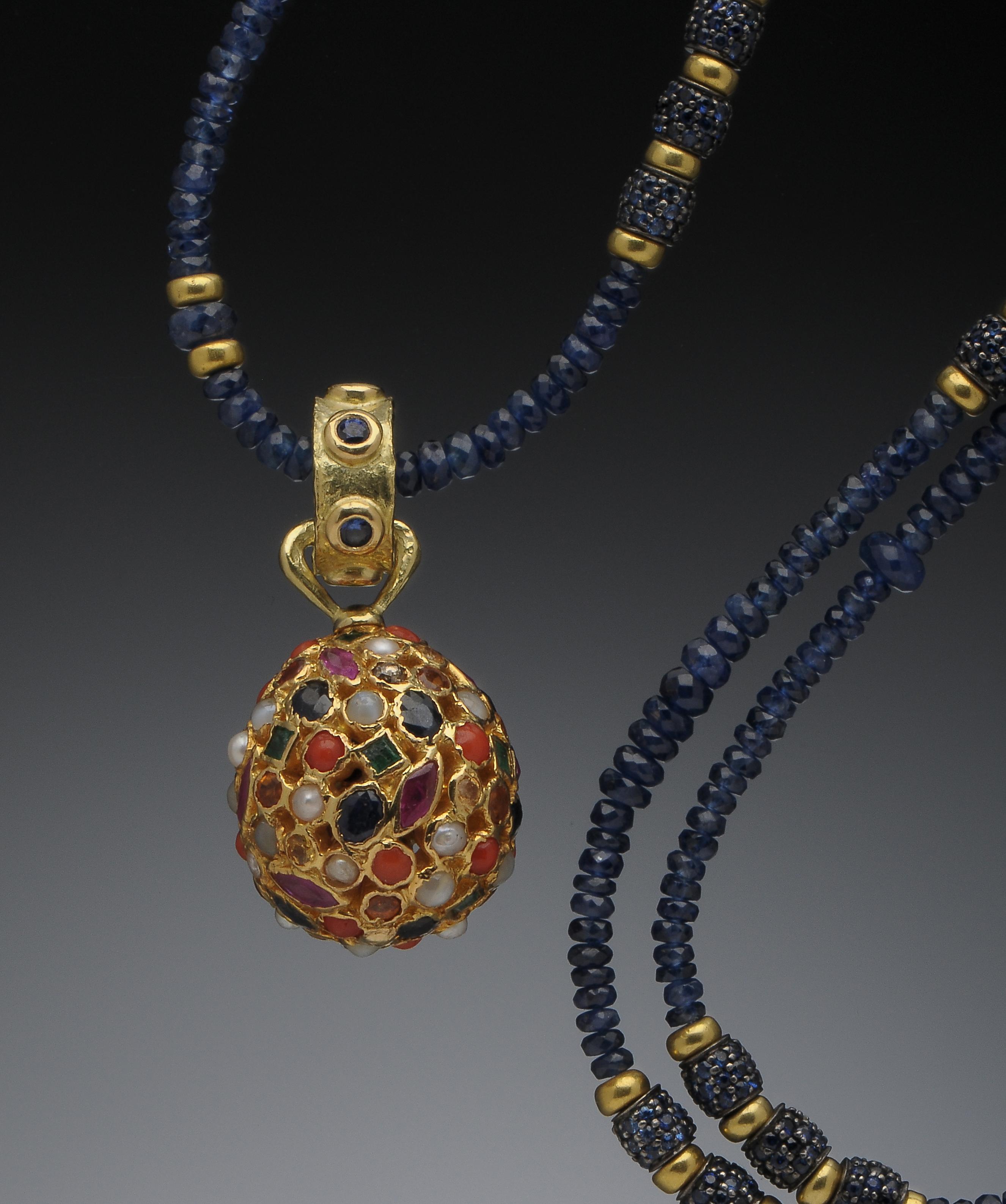 Sapphire & Gem Stone Pendant