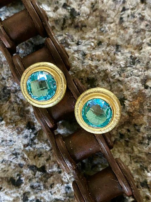 Blue Zircon Earrings
