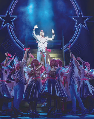 Peter Andre as Teen Angel and the cast o