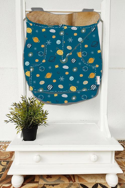 Cobertor de Porteo Planets Blue
