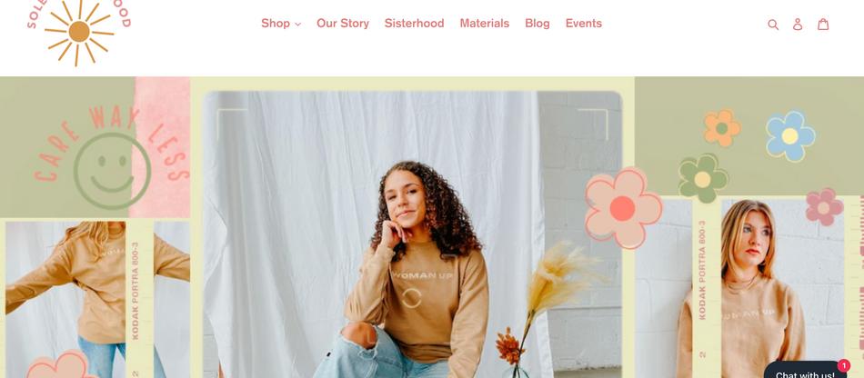 Solely Sisterhood - Website & Blog Post Work