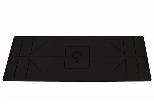 "The Yoga Mat  Deep Black ""Karma"" L 183 long, W 66, T 5 mm"