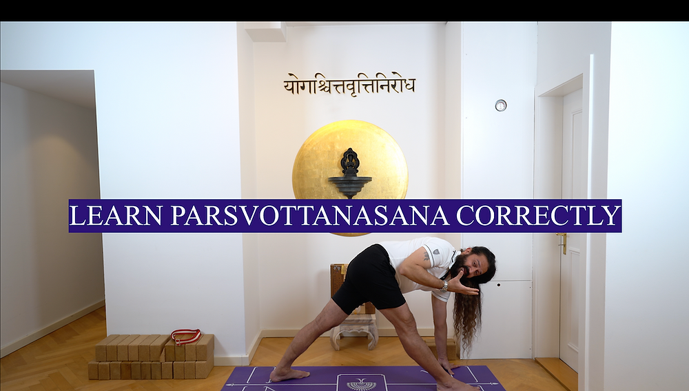 Learn Parsvottanasana correctly at Yogveda Yoga Bern
