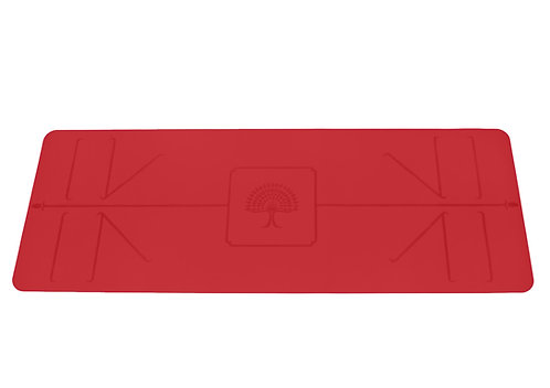 "The Yoga Mat Pro Fire red ""Agni"" L180 cm W 66 cm T 4 mm"