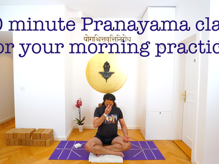 30 minute Pranayama class for your morning practice