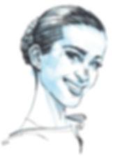 Petra Nemcova portrait by Graham Smith