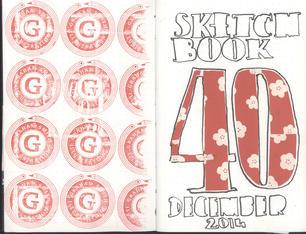sketchbook 40 - Stamps and Number