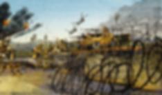 PSTD war scene detail