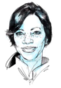 Grace Hightower-Di Nero black and white portrait in ink by Graham Smith