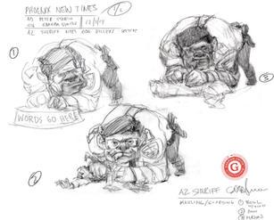 PNT dog killer sketches Graham Smith.