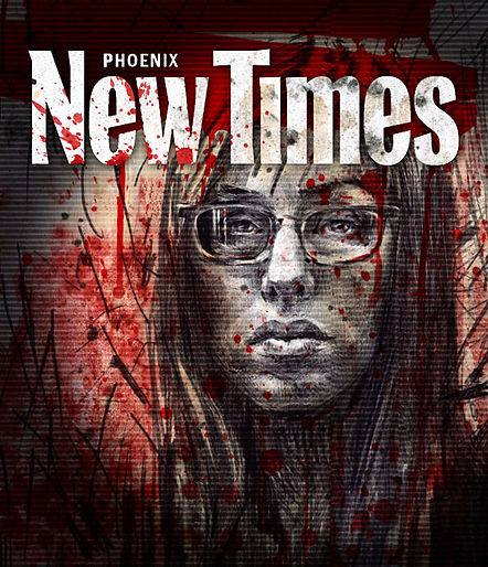 Jodie Arias cover illustration for Phoenix New Times