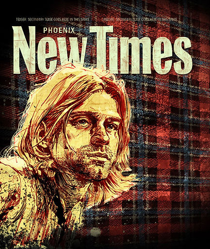 Kurt Cobain cover illustration for Phoenix New Times by Graham Smith