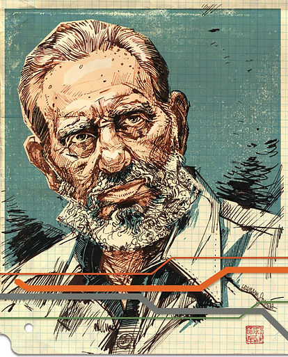 Fidel Castro portrait for Pacific Standard magazine