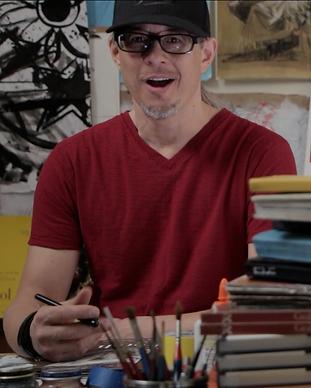 Sketchbook Fury EP 2, Graham Smith talking at his desk.
