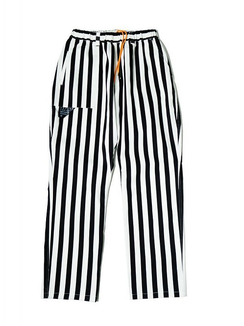 STRIPE EASY PANTS WHITE/BLACK