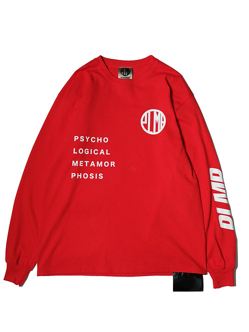 MARK LOGO LS TEE / RED