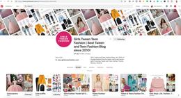 Pinterest Management, Girls Tween Fashio