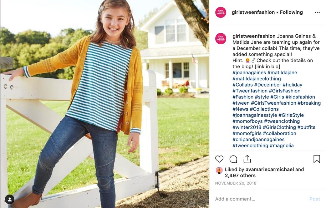 Matilda Jane - Instagram Post